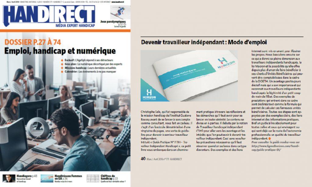 Article de Handirect : Devenir travailleur indépendant : Mode d'emploi