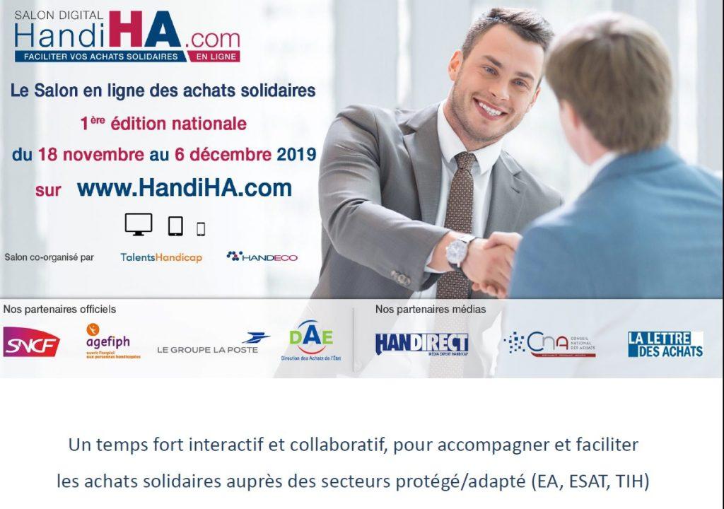 HandiHA 1er salon digital des achats solidaires: ESAT, EA, TIH